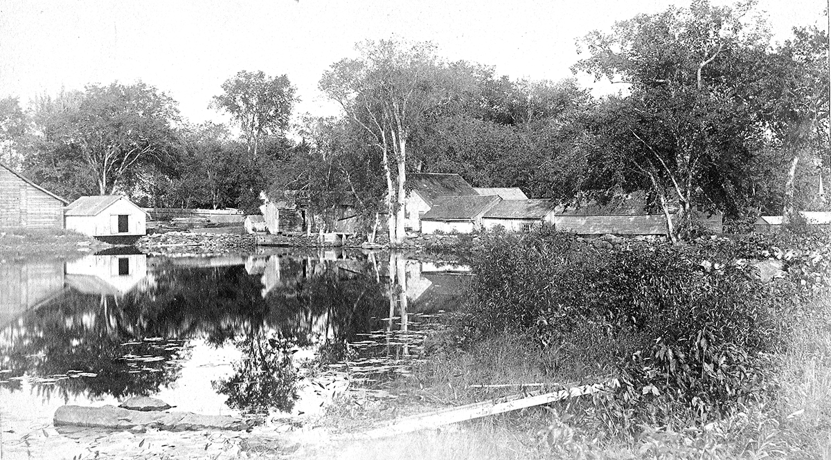Sawin's Mill & Pond Looking East