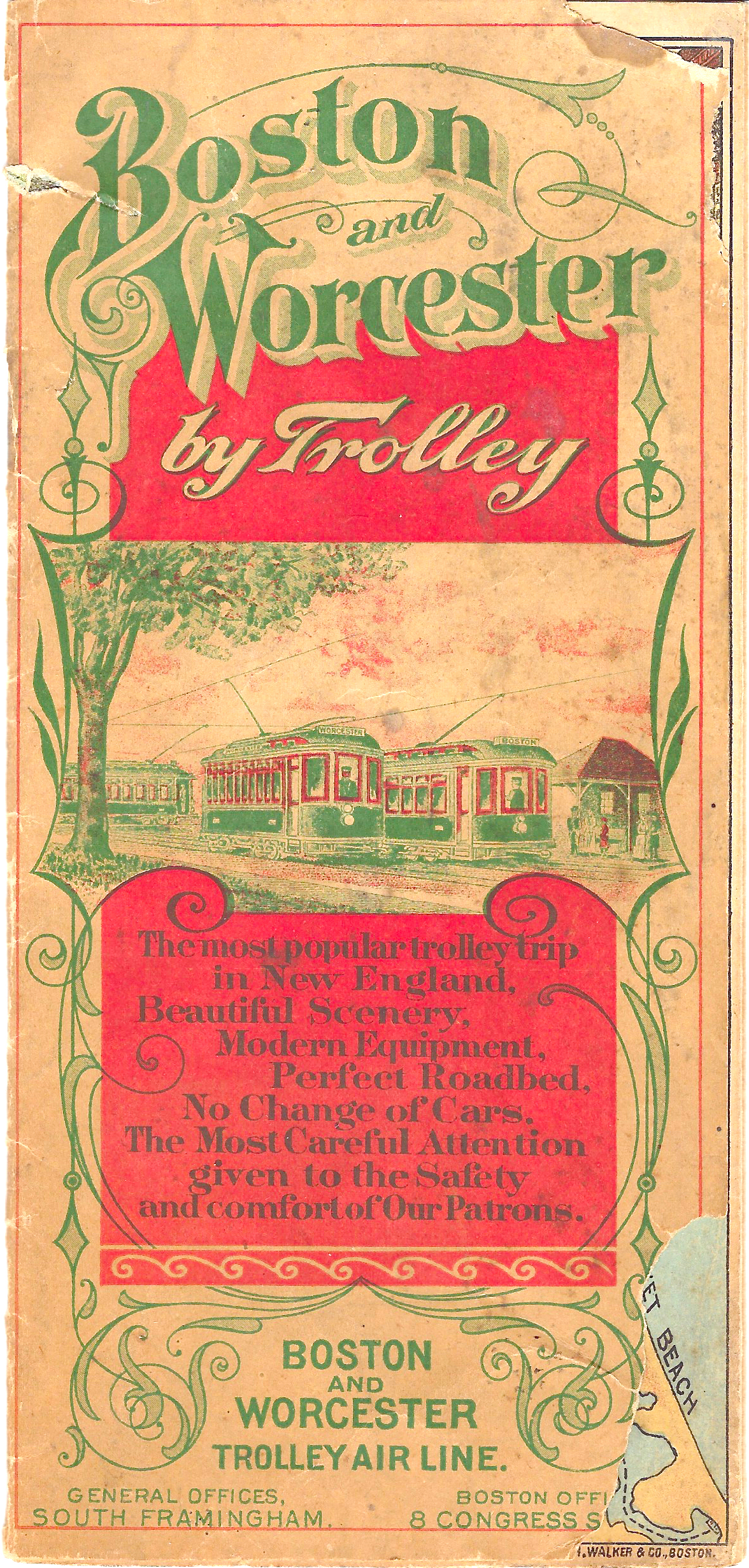 Cover of an Early 1900's Brochure of the Boston Worcester Air Line