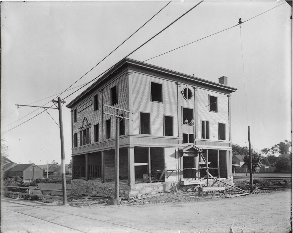 The Masonic Block Under Construction